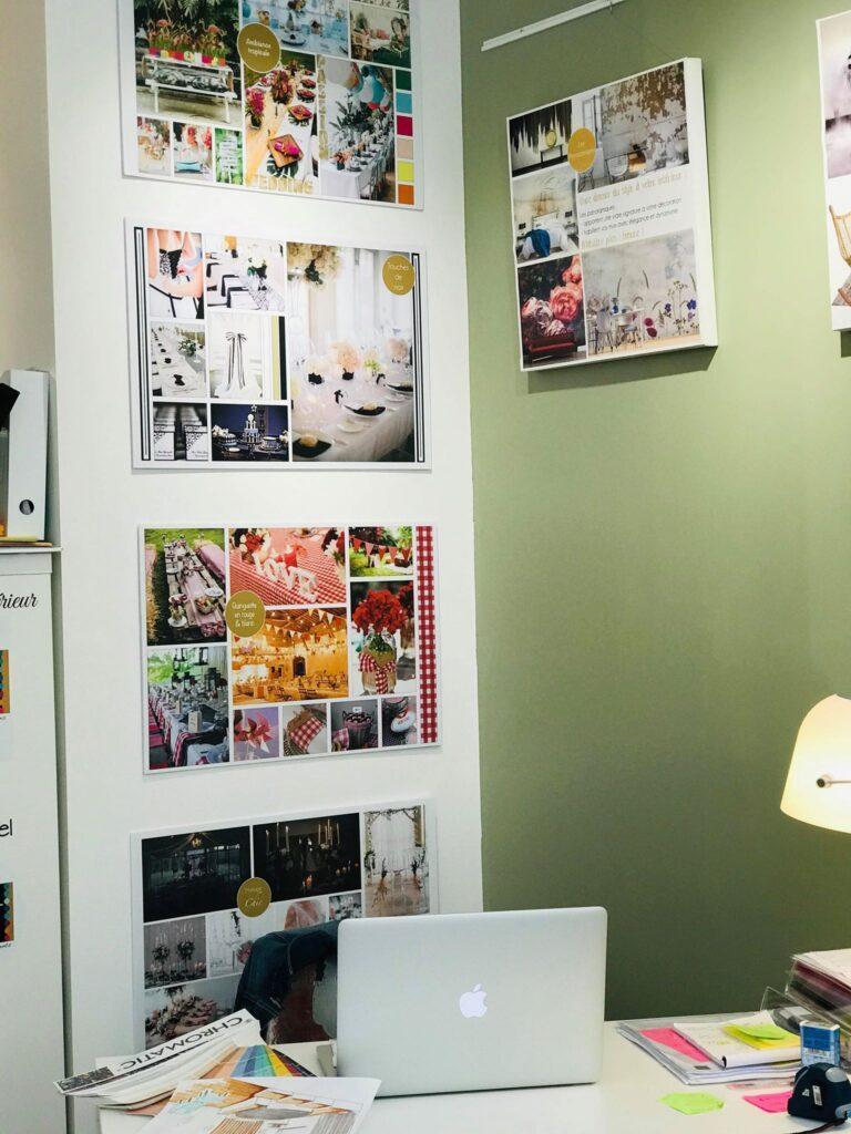 Planches d'ambiances dans le showroom de CREA-DECO, Décoratrice d'intérieur à Honfleur 14