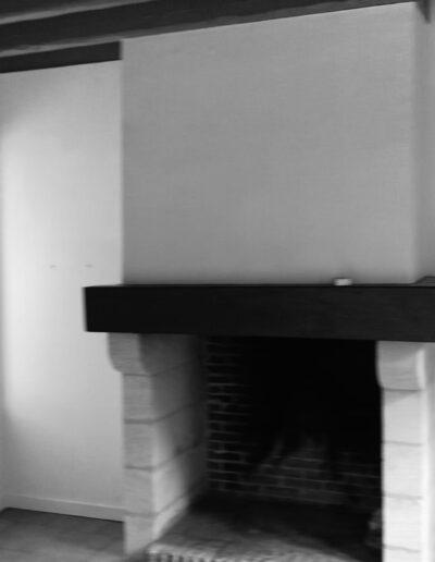 La cheminée AVANT