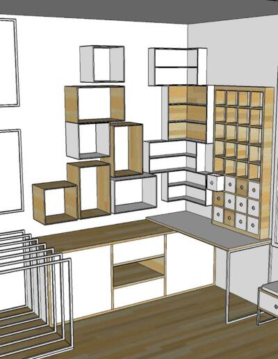 Rénovation Appartement et atelier d'artiste en triplex à Honfleur, par CREA DECO, Décoratrice UFDI à Honfleur, Deauville, Caen - 14