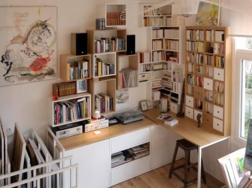 Rénovation et décoration d'un appartement et atelier d'artiste à Honfleur